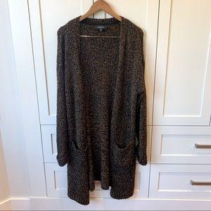 Michel Studio Brown Cardigan Sweater